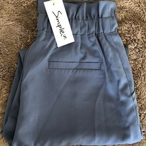 Pants - Women's High Rouched Waist Trousers - Size Small